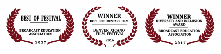 three laurels that read best of festival, best documentary film, and diversity and inclusion award